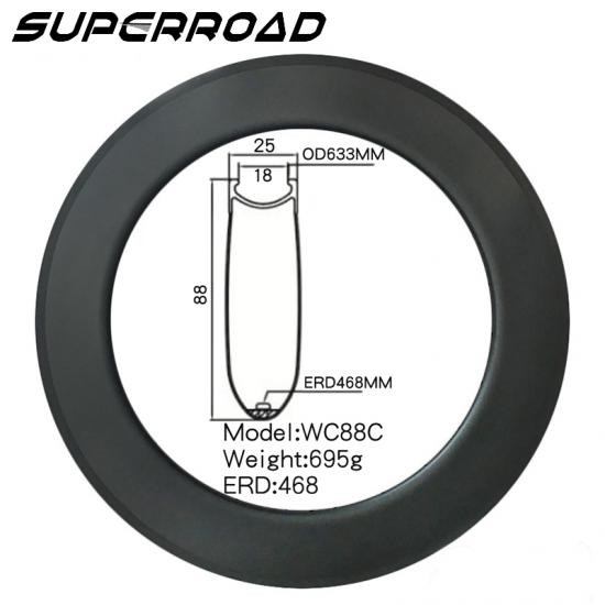 80mm Road Bike Clincher rims
